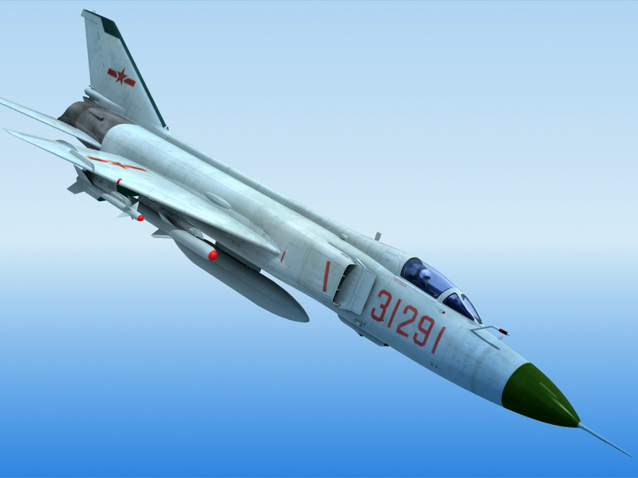 j-8f china fighter 3d model 3ds max fbx obj 123544