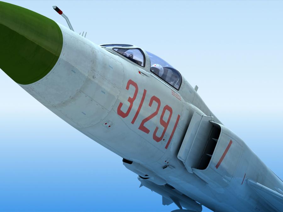 j-8f china сөнөөгч 3d загвар 3ds max fbx obj 123545
