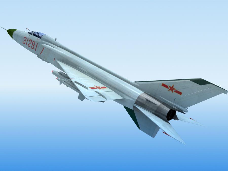 j-8f china сөнөөгч 3d загвар 3ds max fbx obj 123546