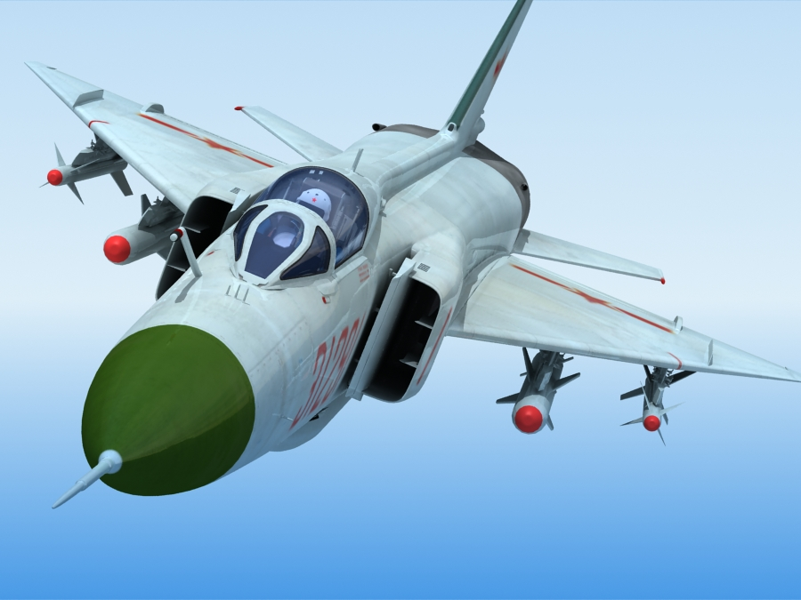 j-8f china сөнөөгч 3d загвар 3ds max fbx obj 123547