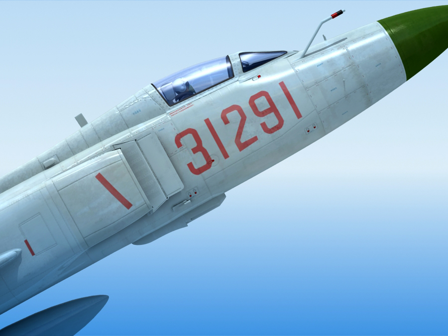 j-8f china сөнөөгч 3d загвар 3ds max fbx obj 123548