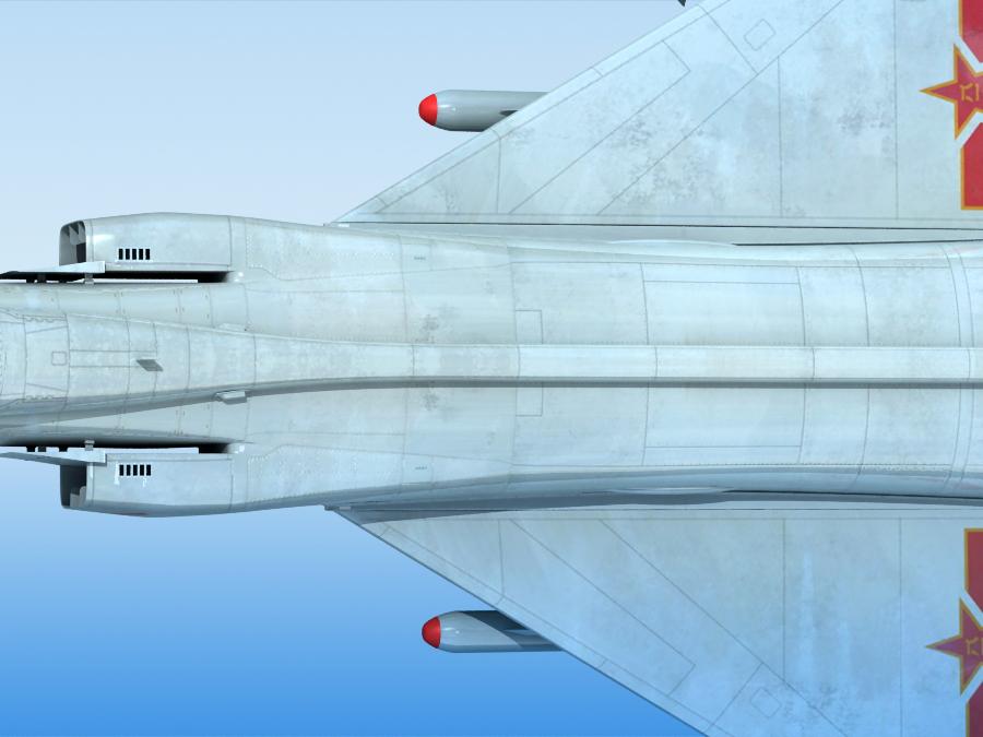 j-8f china сөнөөгч 3d загвар 3ds max fbx obj 123551