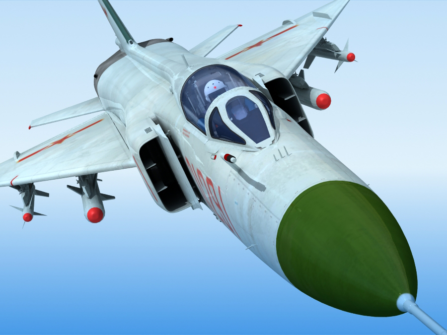 j-8f china сөнөөгч 3d загвар 3ds max fbx obj 123553