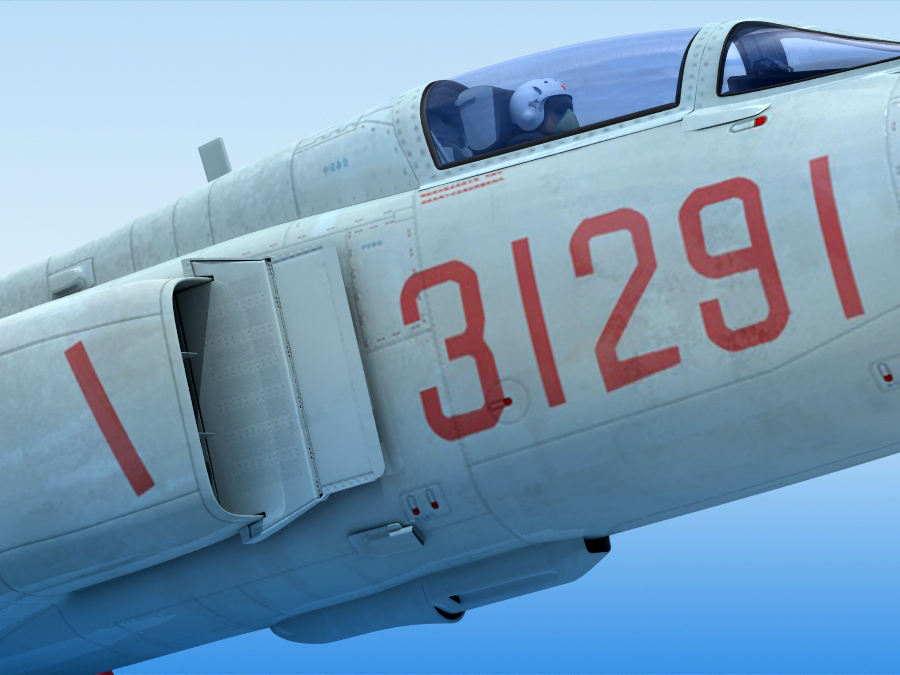 j-8f china сөнөөгч 3d загвар 3ds max fbx obj 123556