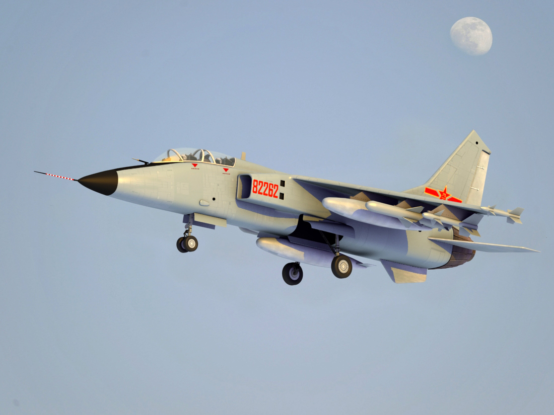 jh-7a china fighter bomber 3d model 3ds max fbx obj 123691