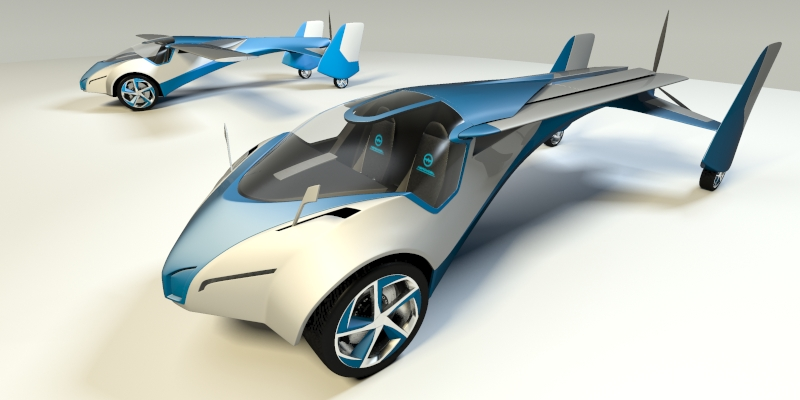 model aeromobil 3.0 3d 3ds max fbx obj 159689