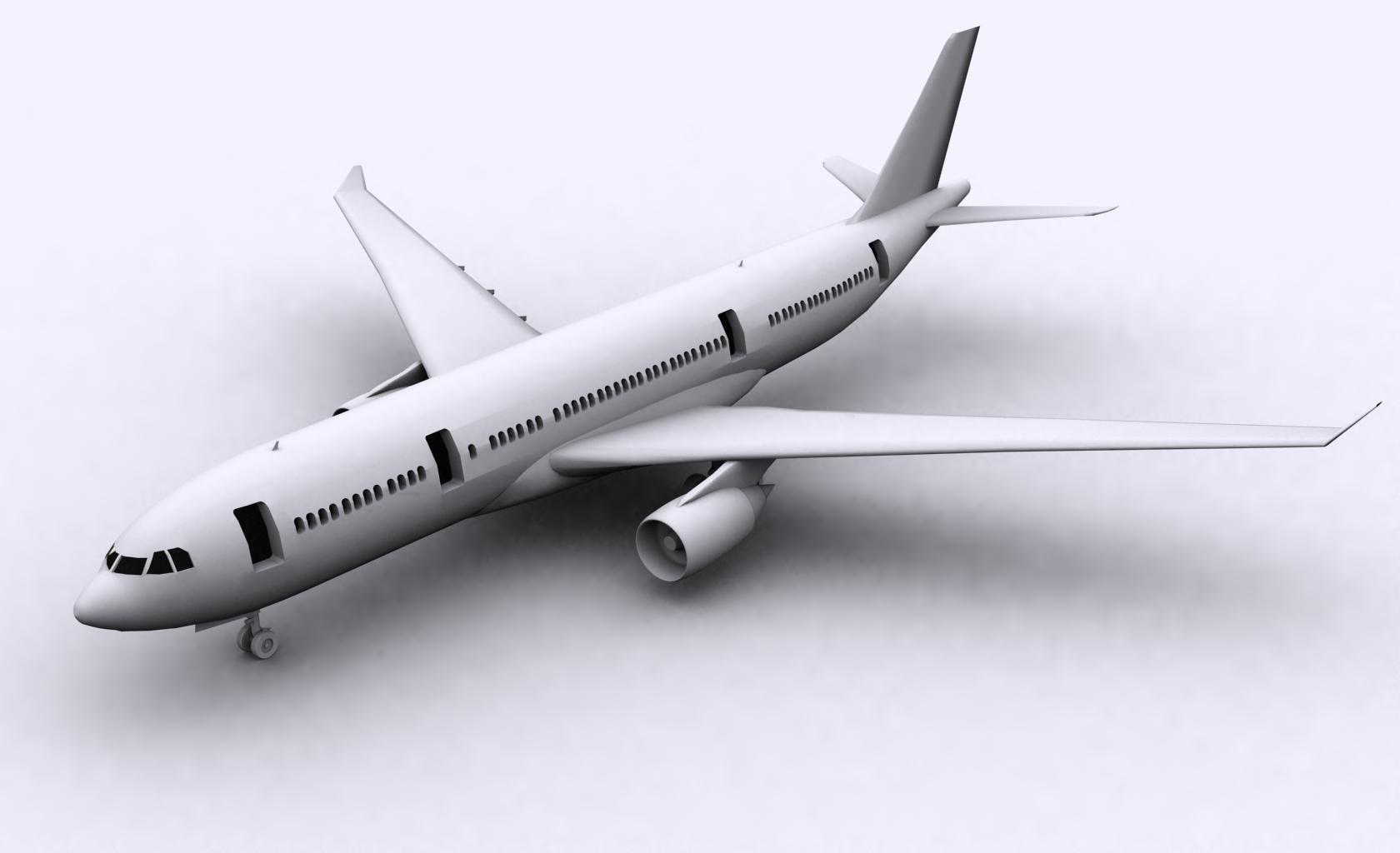 airbus a330-200 3d model ige igs iges obj 152718