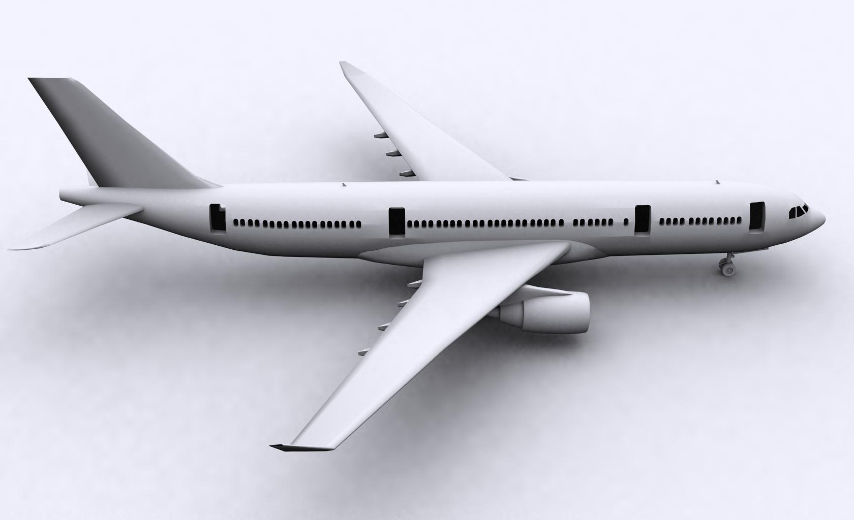 airbus a330-200 3d model ige igs iges  obj 152720