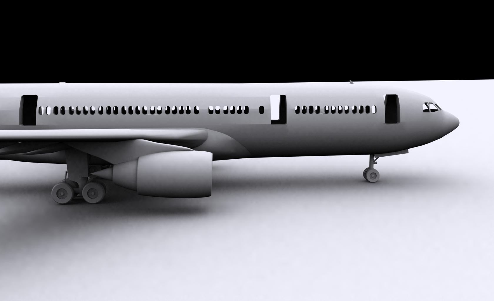 airbus a330-200 3d model ige igs iges  obj 152721