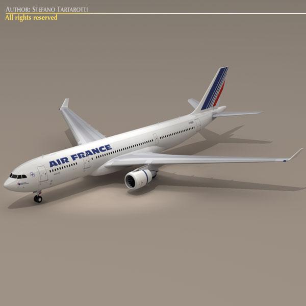 airbus a330-200 air france 3d model 3ds dxf c4d obj 116805