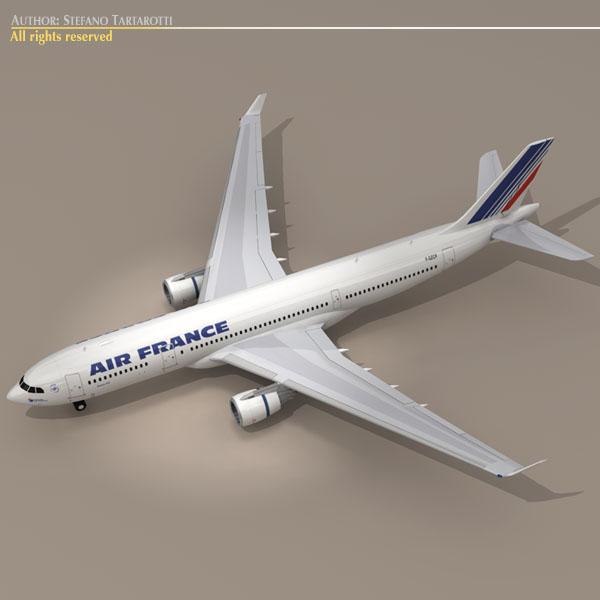 airbus a330-200 air france 3d model 3ds dxf c4d obj 116806