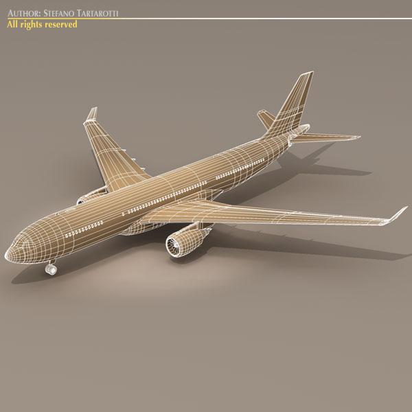 airbus a330-200 air france 3d model 3ds dxf c4d obj 116809