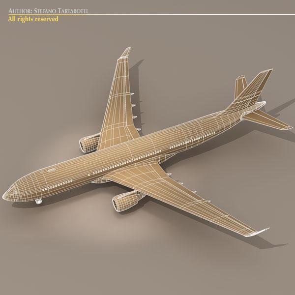 airbus a330-200 air france 3d model 3ds dxf c4d obj 116810