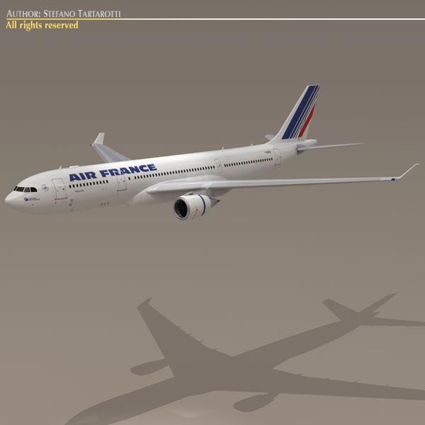 airbus a330-200 air france 3d model 3ds dxf c4d obj 116811