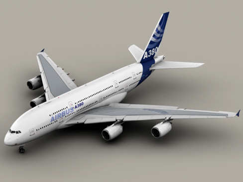 airbus a380 new house colors 3d model 3ds max lwo obj 113911
