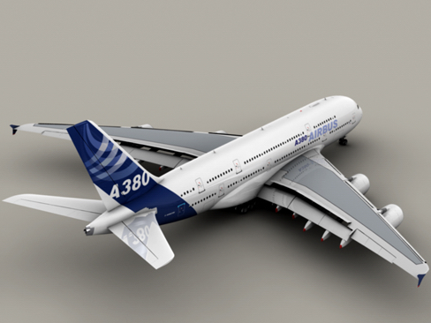 airbus a380 new house colors 3d model 3ds max lwo obj 113912