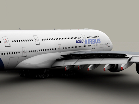 airbus a380 new house colors 3d model 3ds max lwo obj 113913