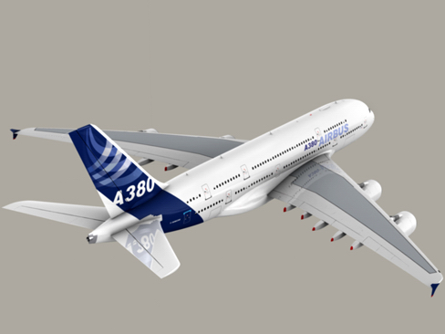 airbus a380 new house colors 3d model 3ds max lwo obj 113918