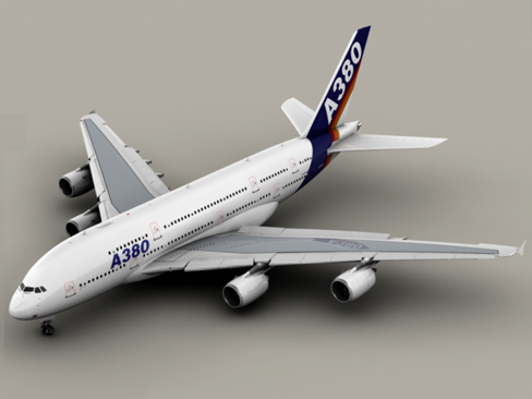 airbus a380 old house colors 3d model 3ds max obj 113925