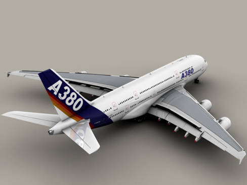 airbus a380 old house colors 3d model 3ds max obj 113926