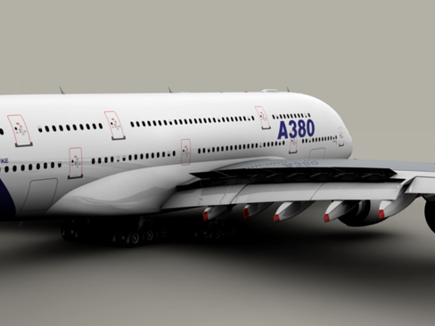 airbus a380 old house colors 3d model 3ds max obj 113927