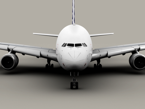 airbus a380 old house colors 3d model 3ds max obj 113928