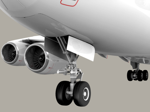airbus a380 old house colors 3d model 3ds max obj 113929