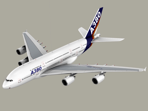 airbus a380 old house colors 3d model 3ds max obj 113931