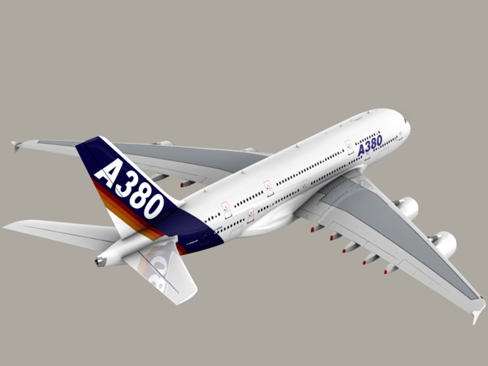 airbus a380 old house colors 3d model 3ds max obj 113932