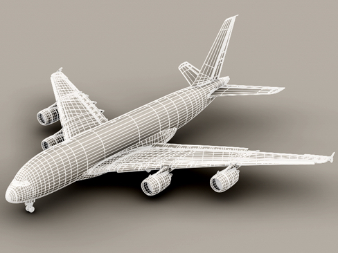 airbus a380 old house colors 3d model 3ds max obj 113933
