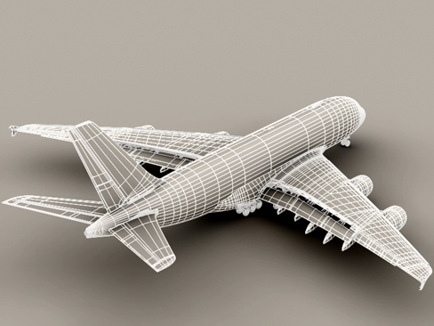 airbus a380 old house colors 3d model 3ds max obj 113934