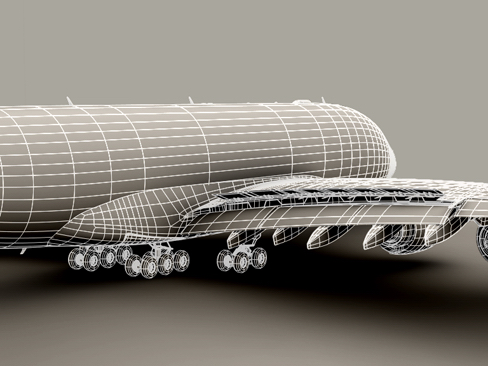 airbus a380 old house colors 3d model 3ds max obj 113935