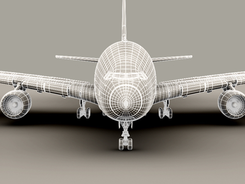 airbus a380 old house colors 3d model 3ds max obj 113936