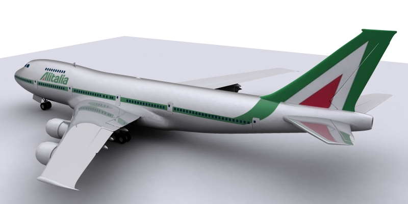 airplane boeing 3d model max 114979