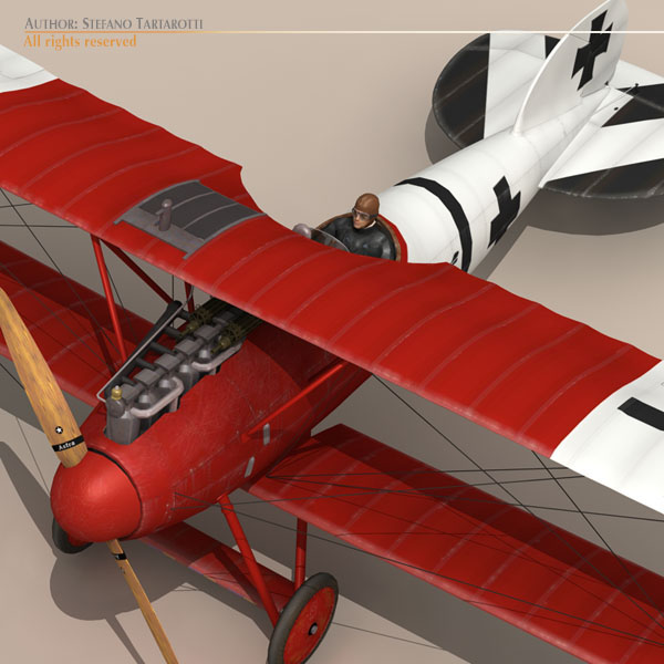 albatros d va jasta 18 3d líkan 3ds dxf c4d obj 113557