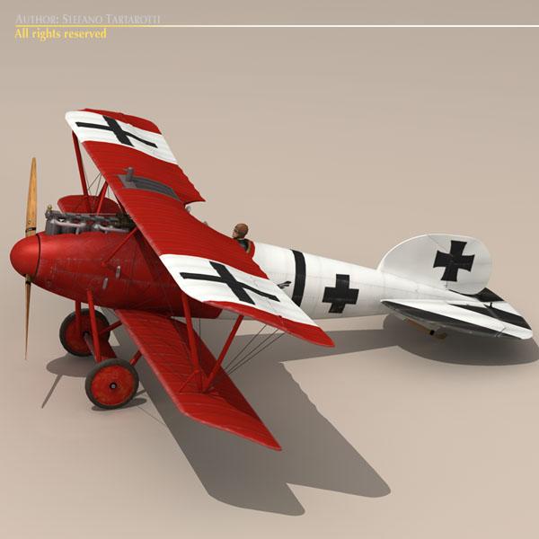 albatros d va jasta 18 3d model 3ds dxf c4d obj 113558