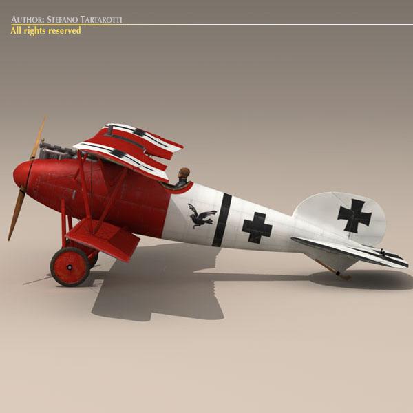 albatros d va jasta 18 3d model 3ds dxf c4d obj 113559
