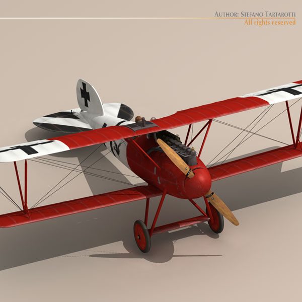 albatros d va jasta 18 3d model 3ds dxf c4d obj 113560