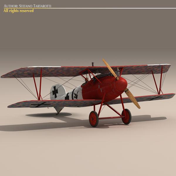albatros d va jasta 18 3d model 3ds dxf c4d obj 113561