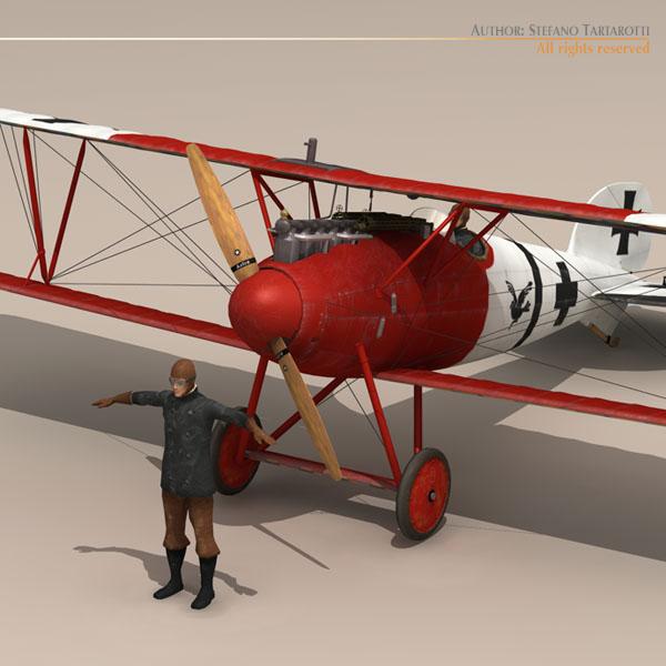 albatros d va jasta 18 3d model 3ds dxf c4d obj 113564