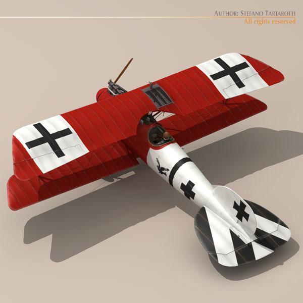 albatros d va jasta 18 3d model 3ds dxf c4d obj 113565