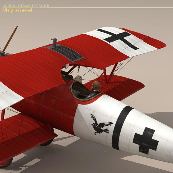 albatros d va jasta 18 3d model 3ds dxf c4d obj 113566