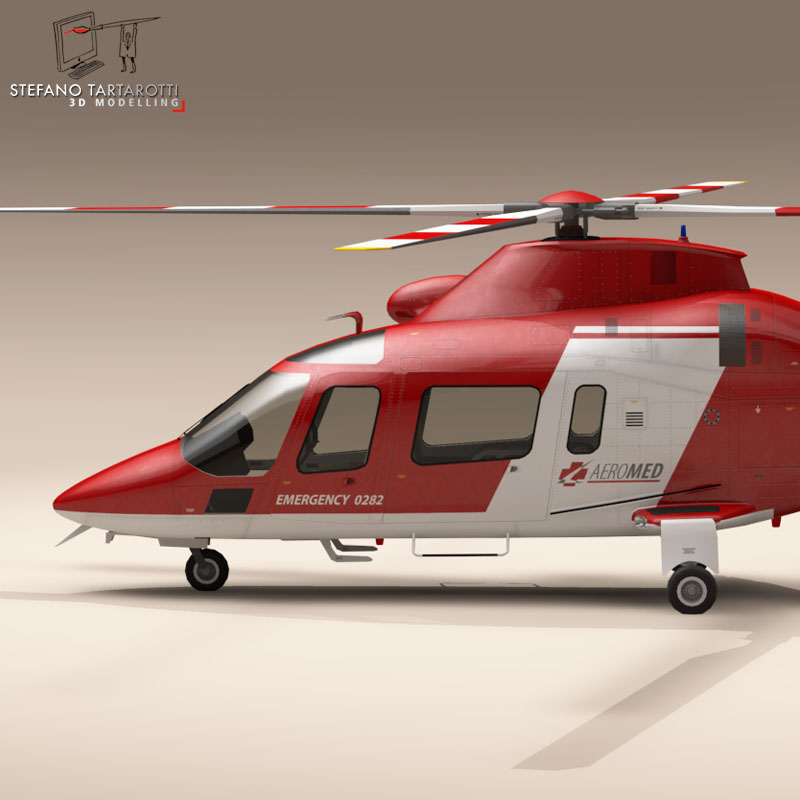 aw109 air ambulance 3d model 3ds dxf fbx c4d dae obj 153349