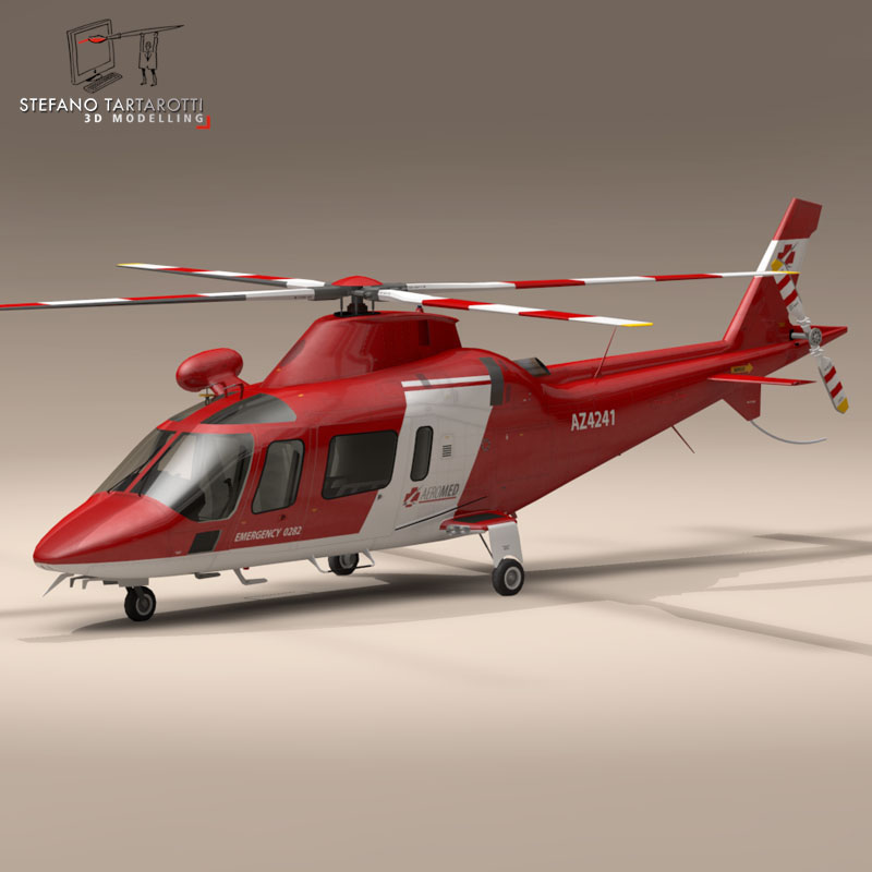 aw109 air ambulance 3d model 3ds dxf fbx c4d dae obj 153350