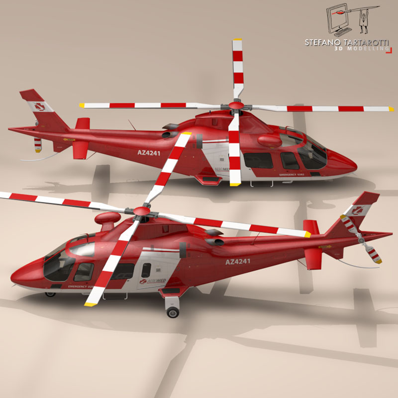 aw109 air ambulance 3d model 3ds dxf fbx c4d dae obj 153351