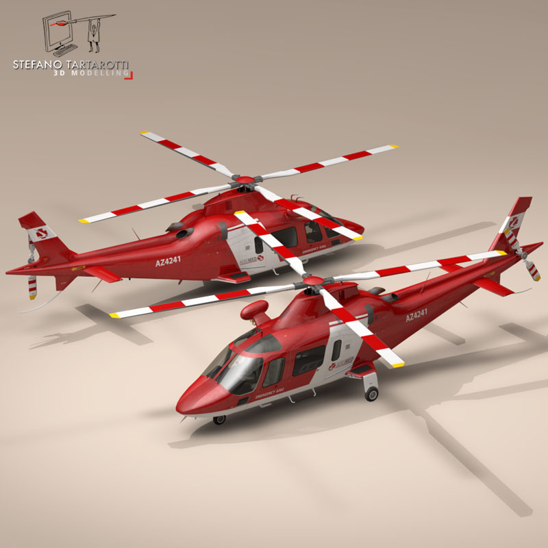aw109 air ambulance 3d model 3ds dxf fbx c4d dae obj 153352
