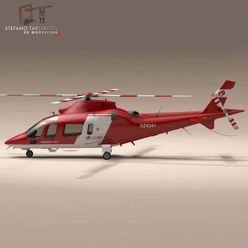 aw109 air ambulance 3d model 3ds dxf fbx c4d dae obj 153354