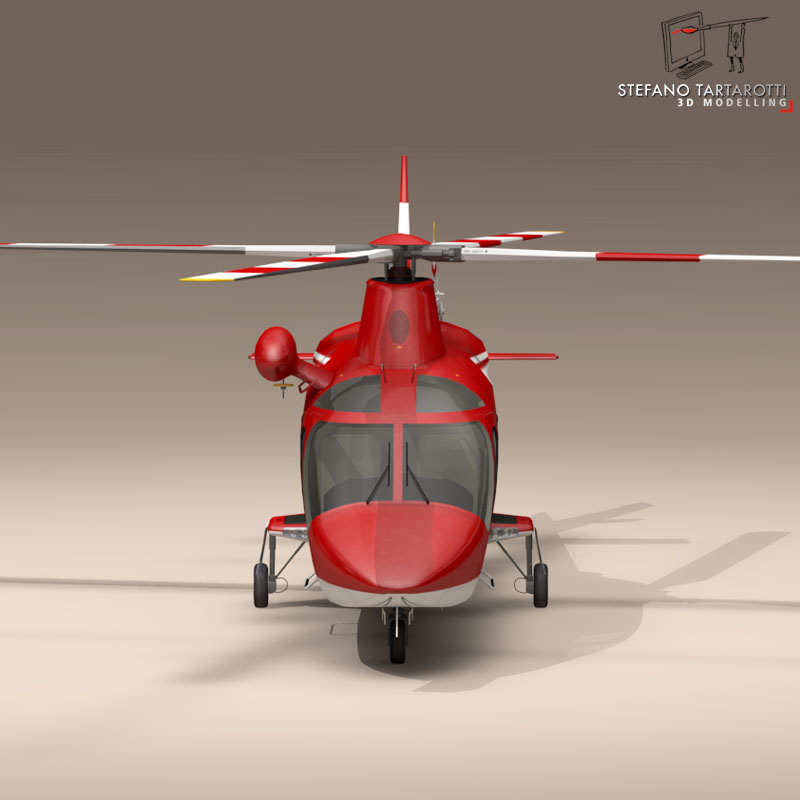 aw109 air ambulance 3d model 3ds dxf fbx c4d dae obj 153355