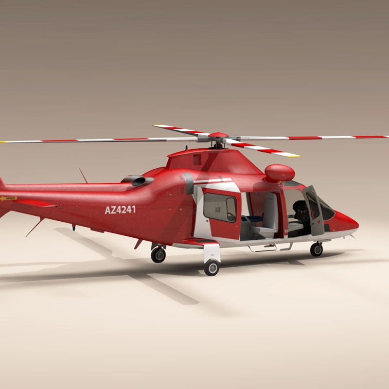 aw109 air ambulance 3d model 3ds dxf fbx c4d dae obj 153356