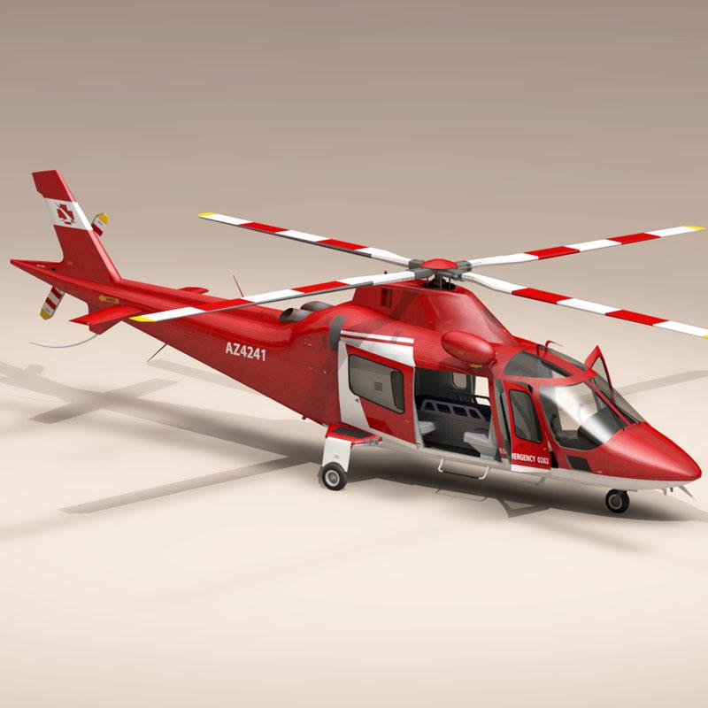 aw109 агаарын түргэн тусламжийн 3d загвар 3ds dxf fbx c4d dae obj 153357
